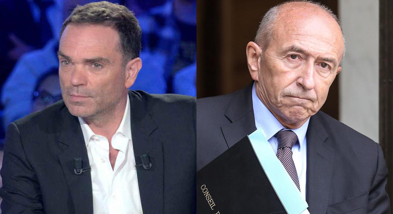 Yann Moix et Gérard Collomb.