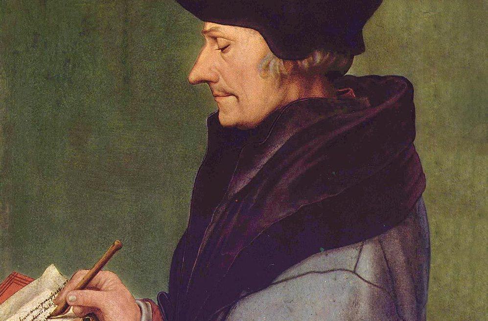 Portrait D'Érasme par Hans Holbein Le Jeune (1523).