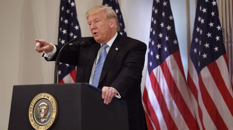 Donald Turmp lors de sa conférence de presse du 26 septembre 2018 à New York.