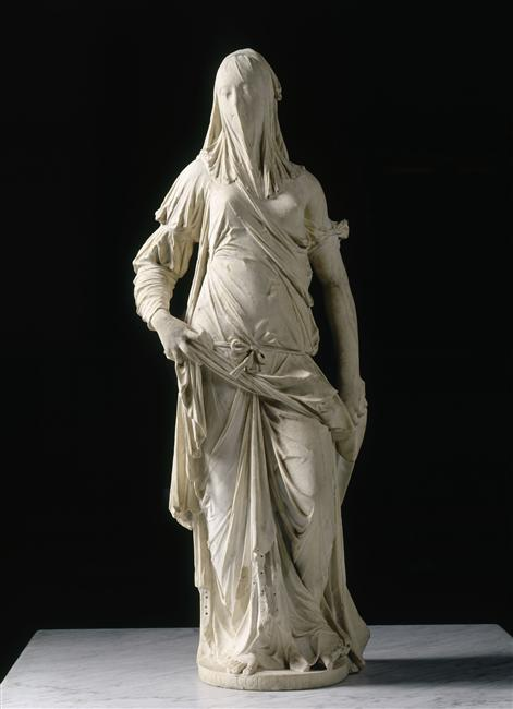 Antonio Corradini, Femme voilée (La Foi), marbre, Paris, Musée du Louvre.