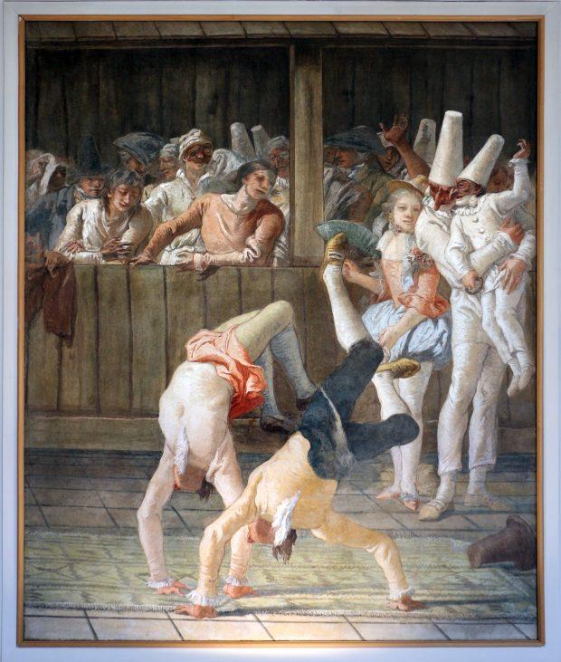 Giandomenico Tiepolo, Polichinelles et Saltimbanques, 1797, fresque déposée, Venise, Ca' Rezzonico.