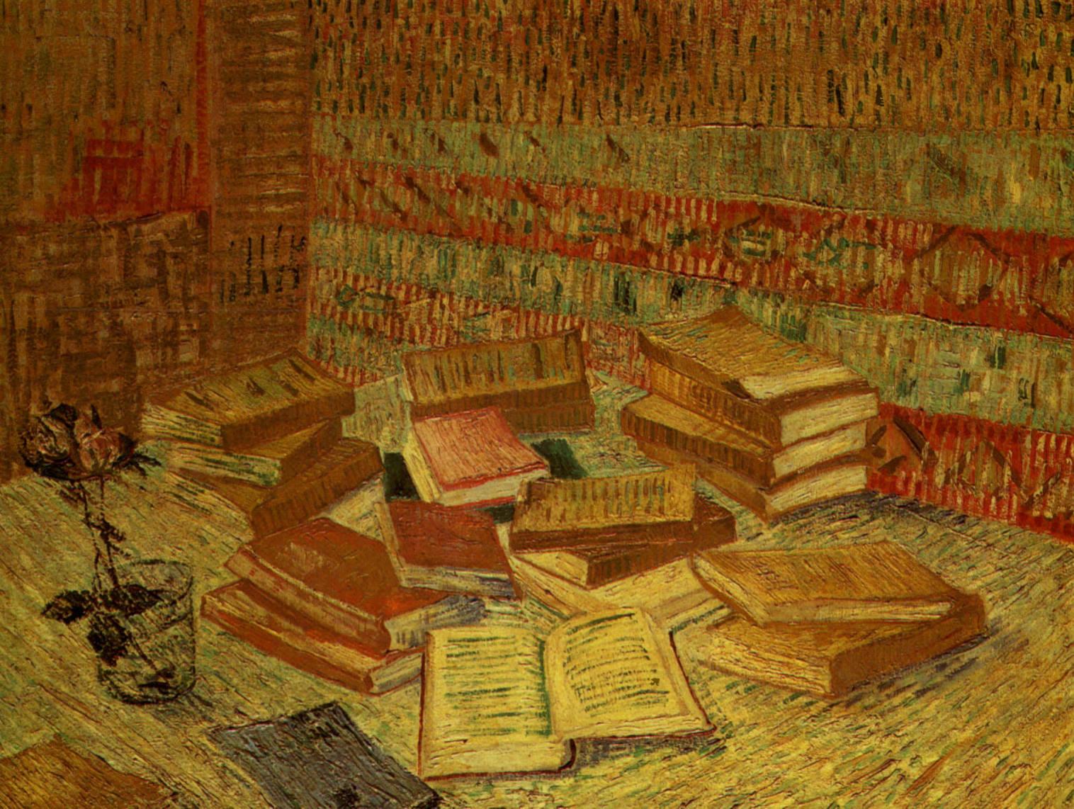 Les livres jaunes, Vincent van Gogh, 1887.