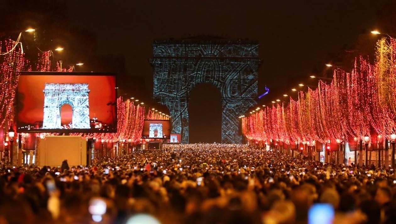 Réveillon 2019 sur les Champs Elysées.