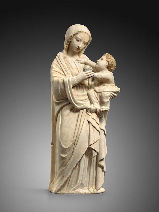 Attribué à Antonello Gagini, Vierge à l'enfant, vers 1500, galerie Sismann