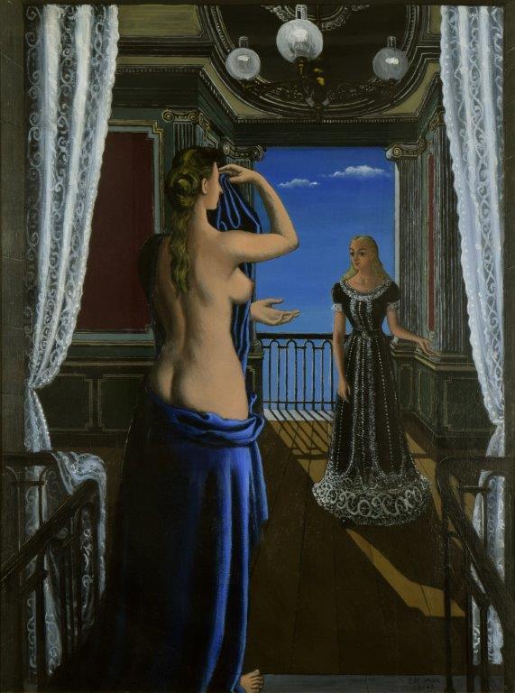 Paul Delvaux, Le Balcon, 1948, galerie Stern Pissarro.