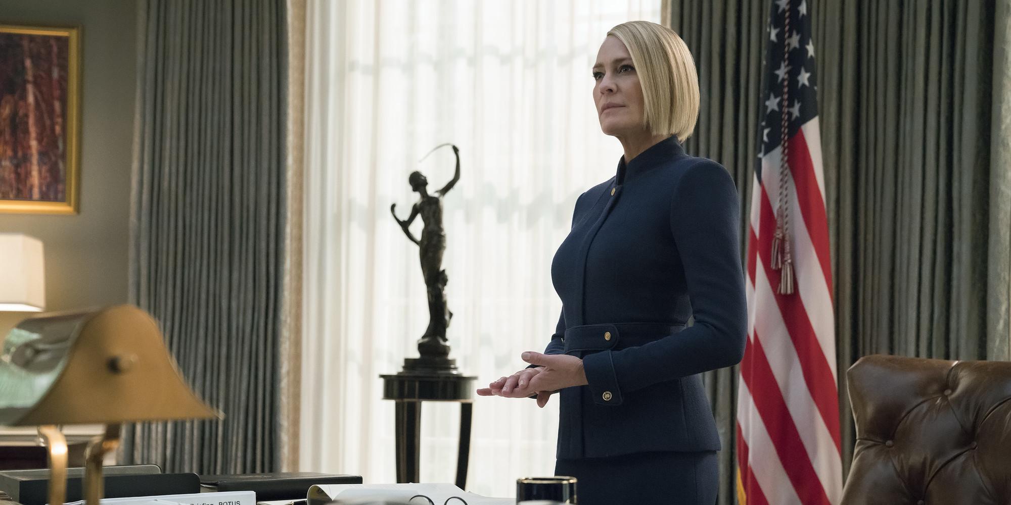 House Of Cards. Scène de la saison 6 de la série de Netflix.