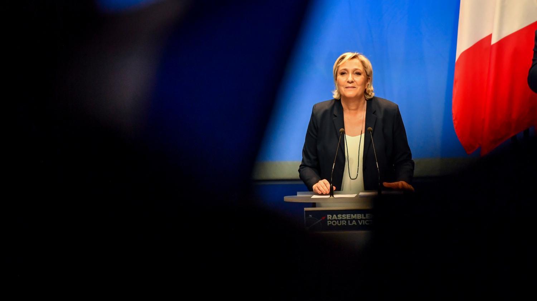 Marine Le Pen, lors du congrès du Front national, à Lille (Nord), le 11 mars 2018.