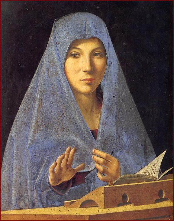 Antonello de Messine, Vierge de l'Annonciation, vers 1476, Palerme, Palais Abatellis.