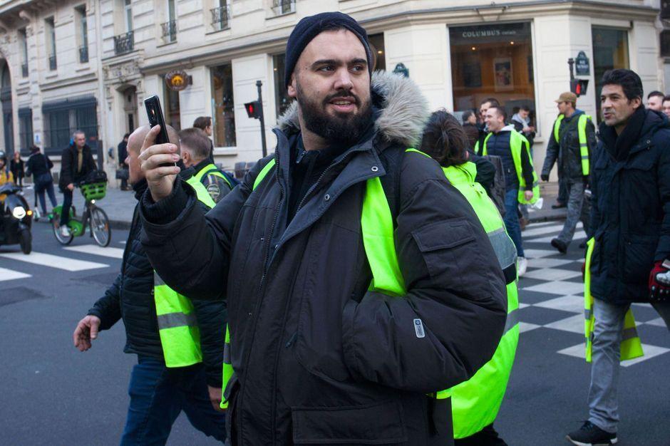Eric Drouet à Paris le 22 décembre. AFP.