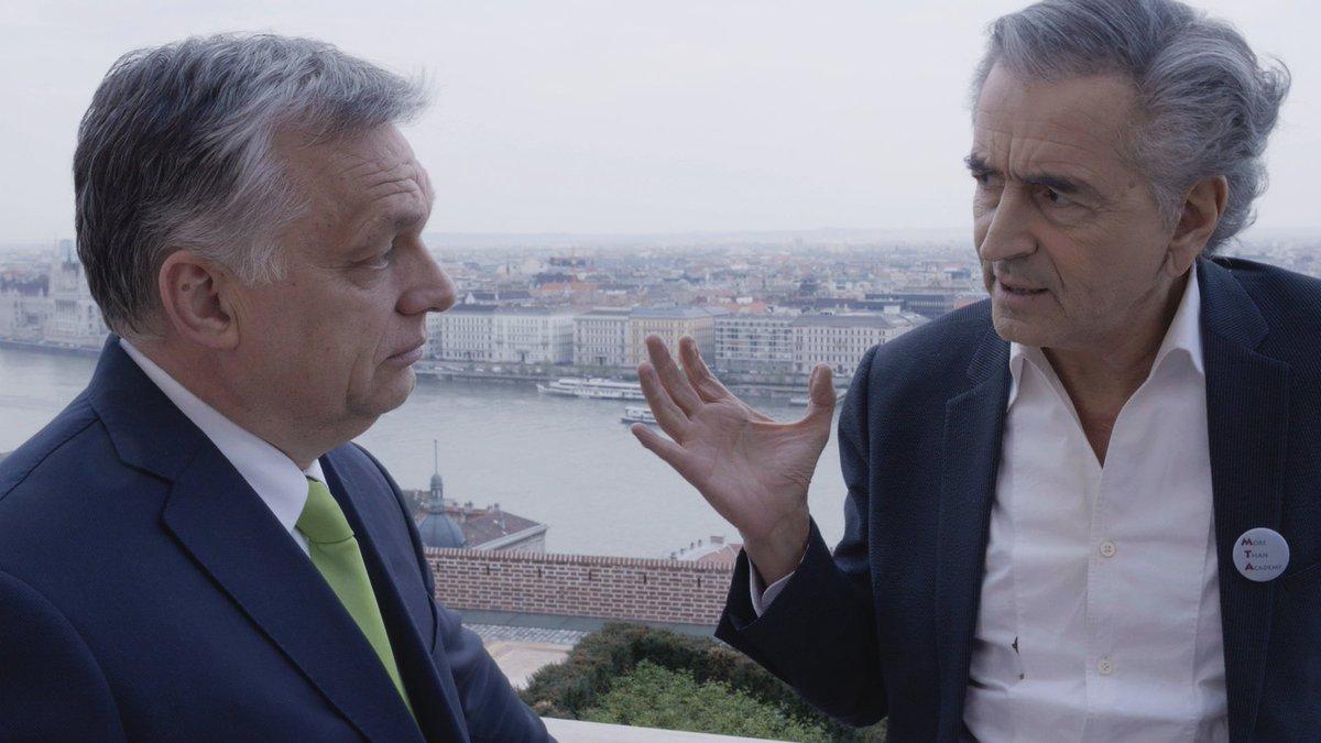 Le premier ministre Viktor Orban et le philosophe Bernard-Henri Lévy.