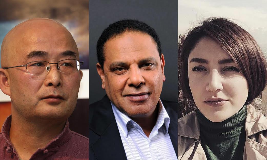 Liao Yiwu, Alla El Aswany et Reihane Taravati.