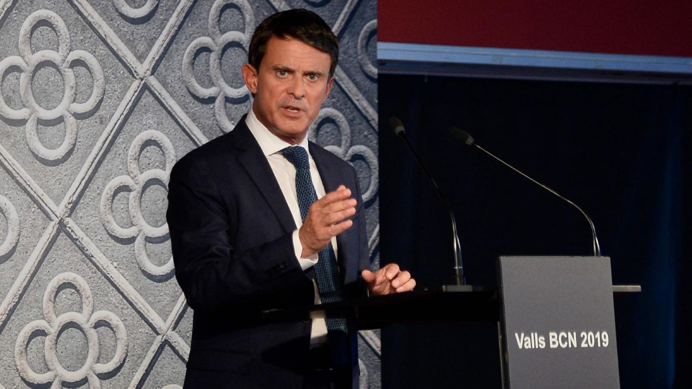 Manuel Valls annonce, le 25 septembre 2018, sa candidature à la mairie de Barcelone.