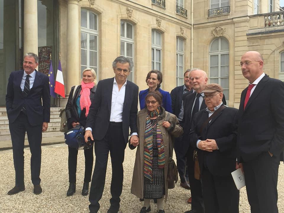 Bernard-Henri Lévy et Ágnes Heller à l'Elysée le 21 mai 2019.