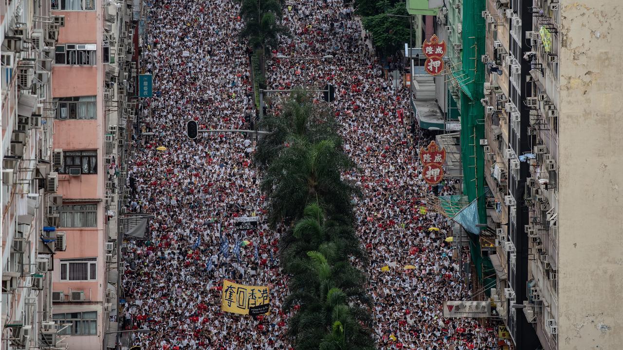 Manifestations à Hong Kong.