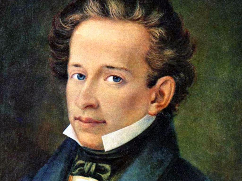 Giacomo Leopardi (né le 29 juin 1798 à Recanati et mort le 14 juin 1837 à Naples).