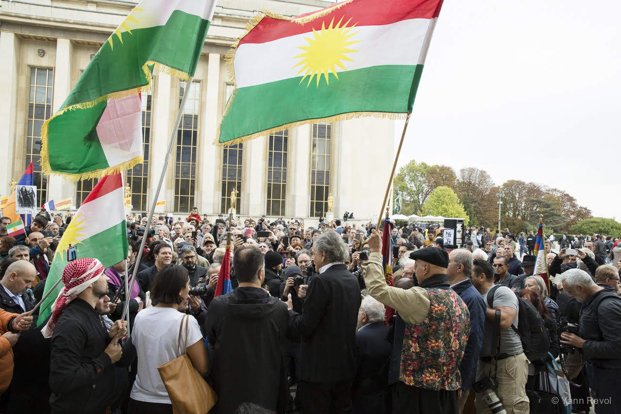 Manifestation-BHL-Kurdes-Trocadero