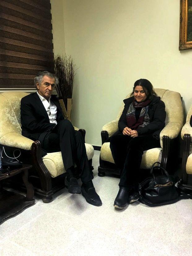 Avec Fawza Youssef, écrivaine, membre de la direction collégiale du Rojava.