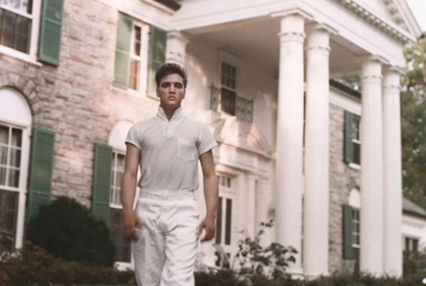 Elvis Presley à Graceland (Memphis).