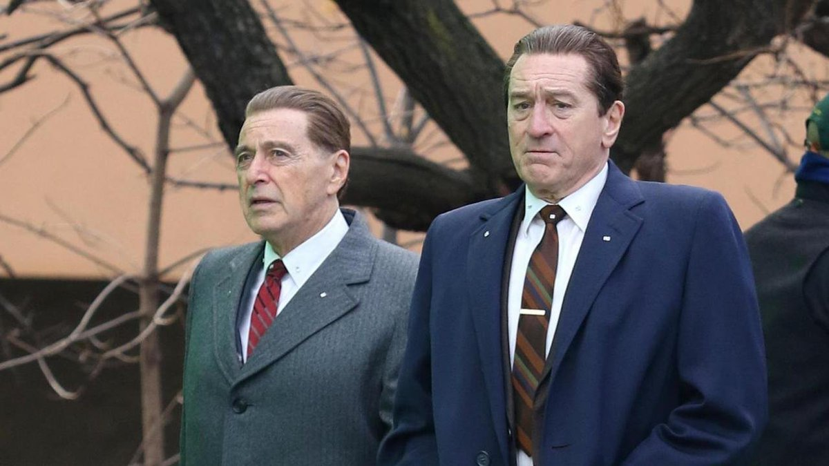 Al Pacino et Robert Deniro. Scène du film The Irishman de Martin Scorsese.