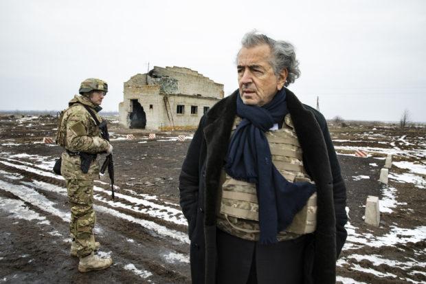 Bernard-Henri Lévy à Shyroke, le 27 janvier 2020.