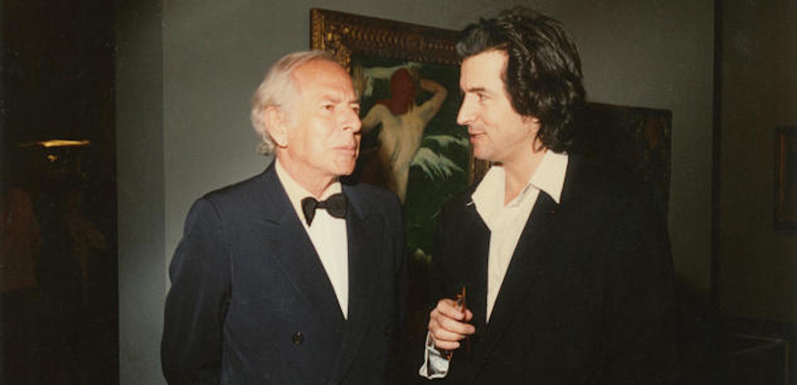 Jean Daniel en compagnie de Bernard-Henri Lévy.