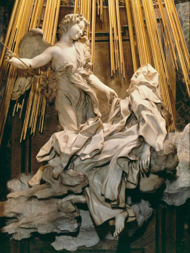 Le Bernin, L'extase de sainte Thérèse, 1647-1653, Rome, église Santa Maria della Vittoria.