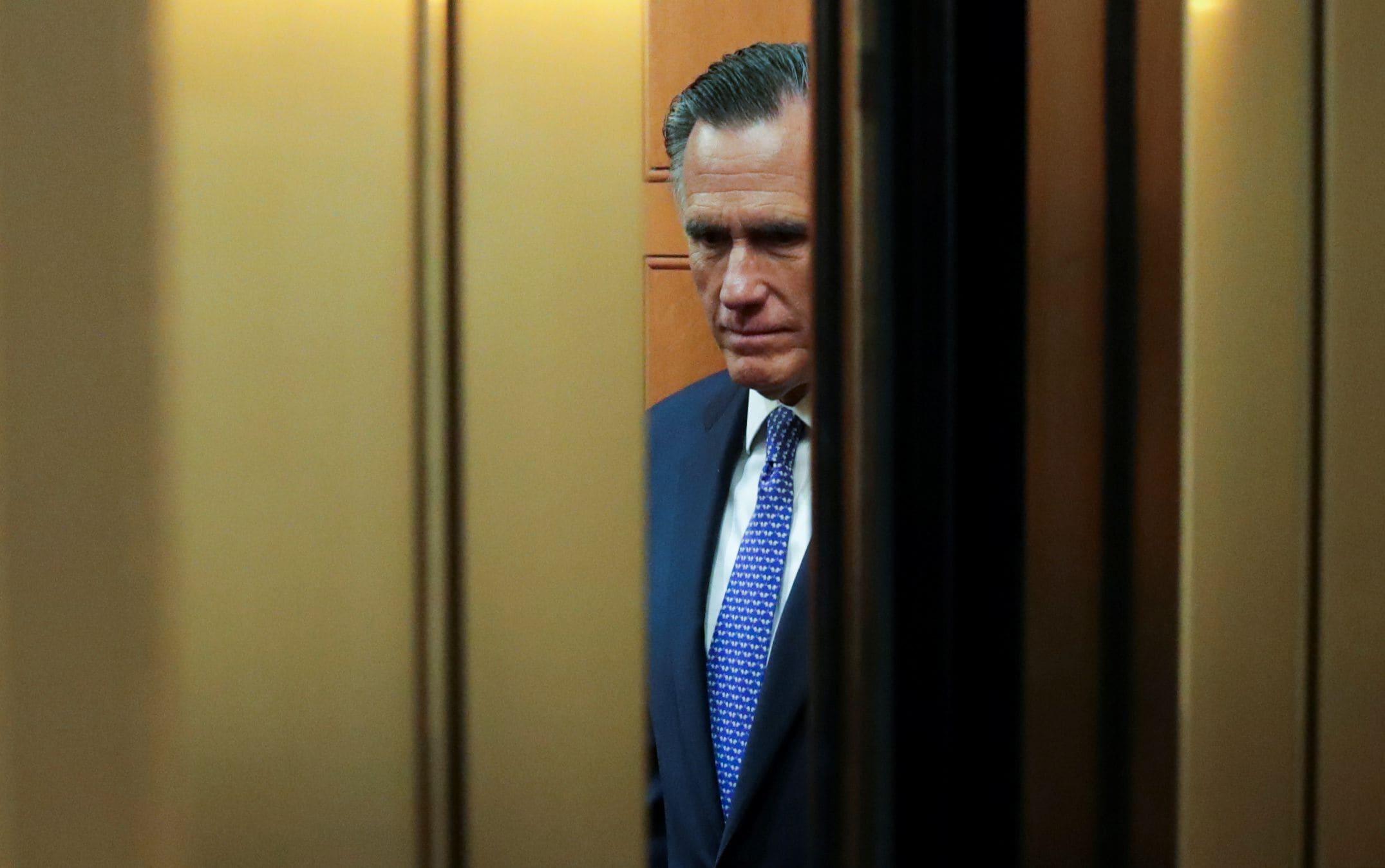 Portrait du sénateur républicain des Etats-Unis : Mitt Romney.