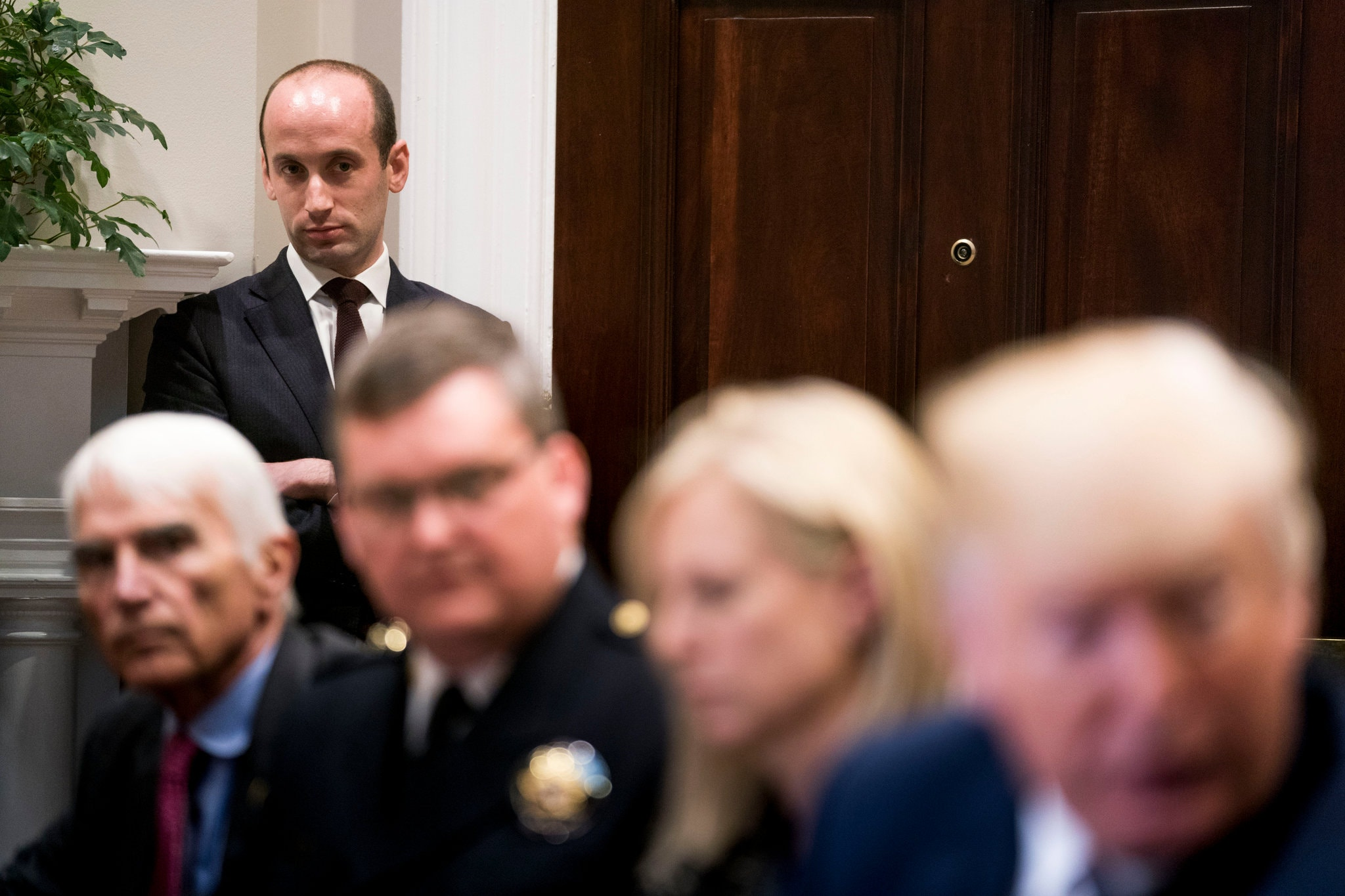 Portrait de Stephen Miller, conseiller du Président des Etats-Unis en charge de l'immigration, à la Maison blanche.