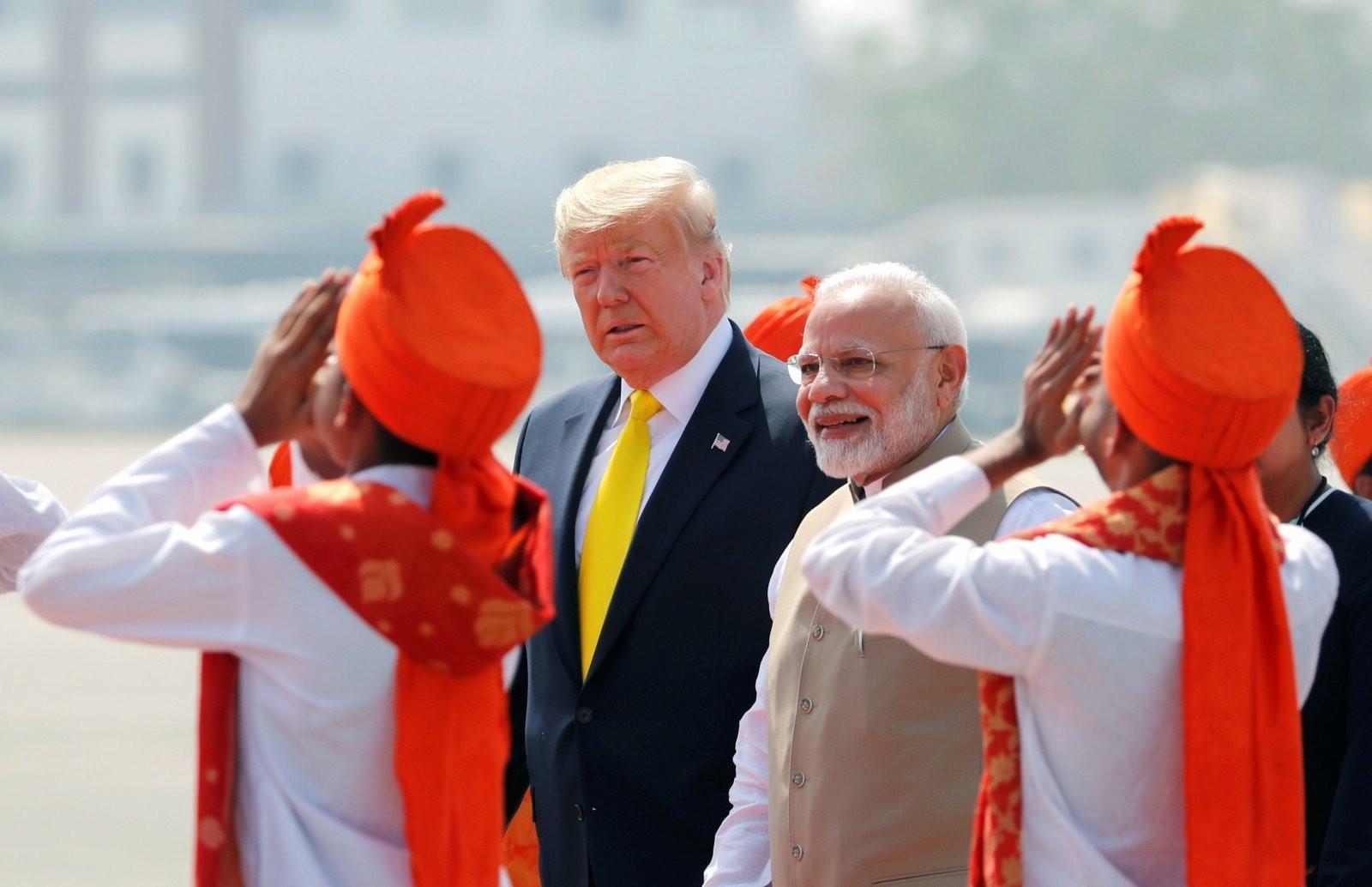 Lé président américainDonald Trump était en visite en Inde dès lundi.