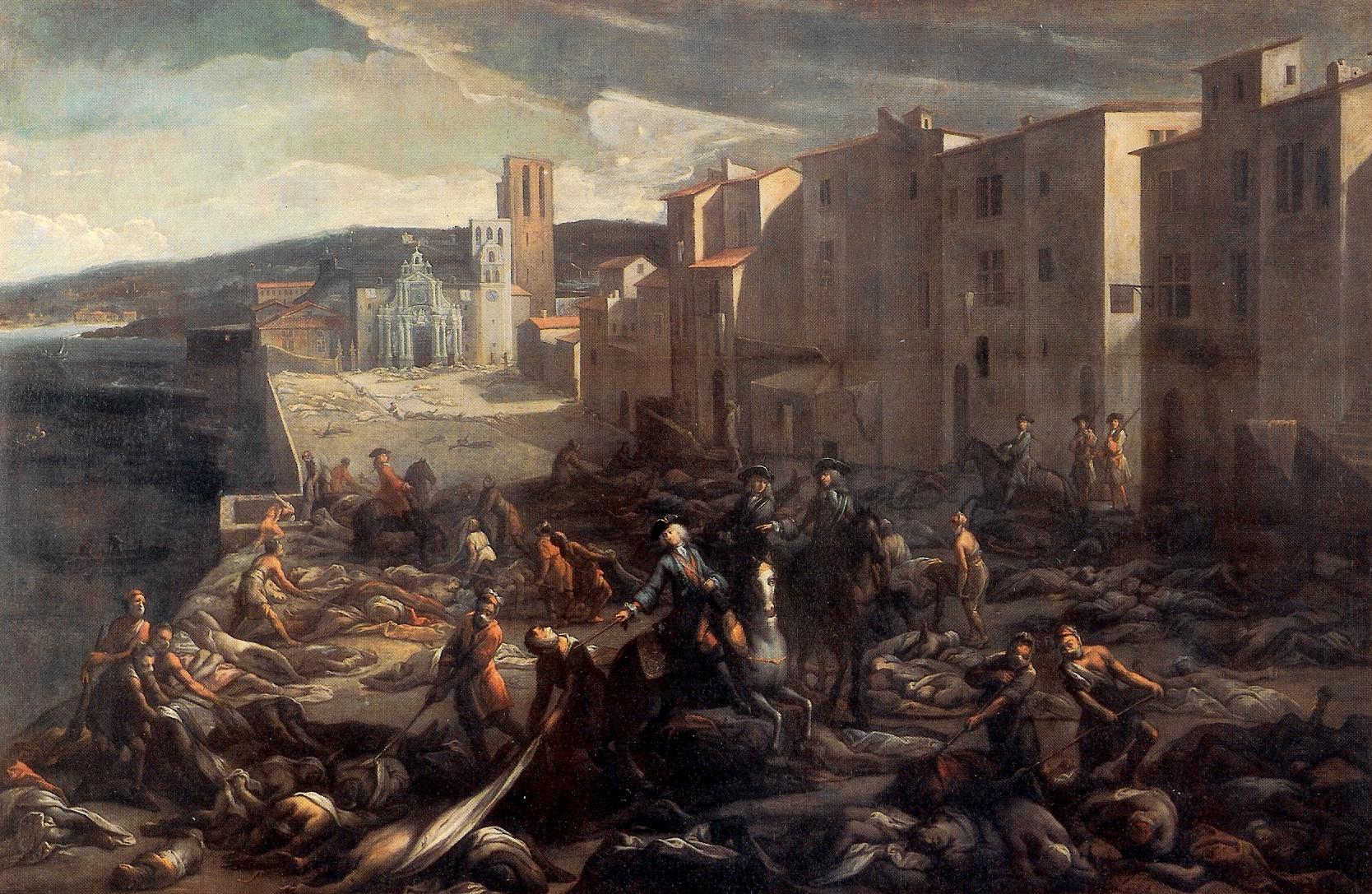 Scène de la peste de 1720 à la Tourette (Marseille), tableau de Michel Serre .