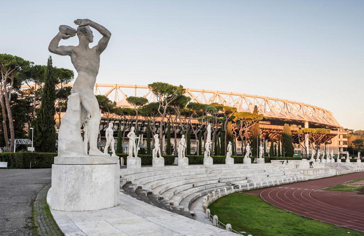 Photo du Stade des Marbres, au Foro Italico, à Rome.