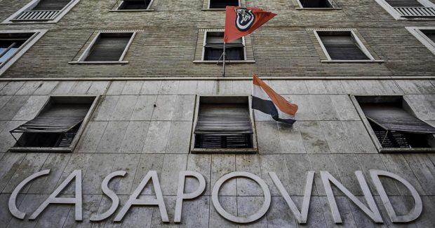 Photo du siège de Casa Pound à Rome.