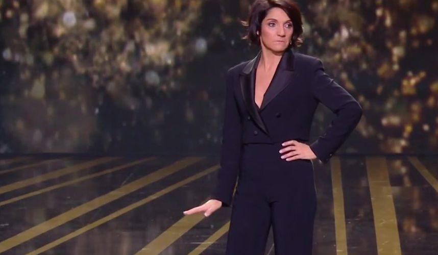 Florence Foresti comparant Roman Polanski à Atchoum lors de la cérémonie des César 2020.