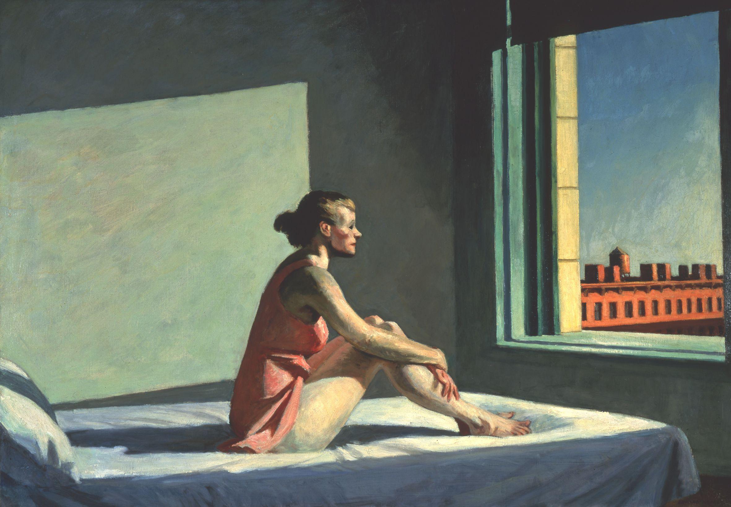 """""""Morning Sun"""" de Edward Hopper, 1952, huile sur toile."""