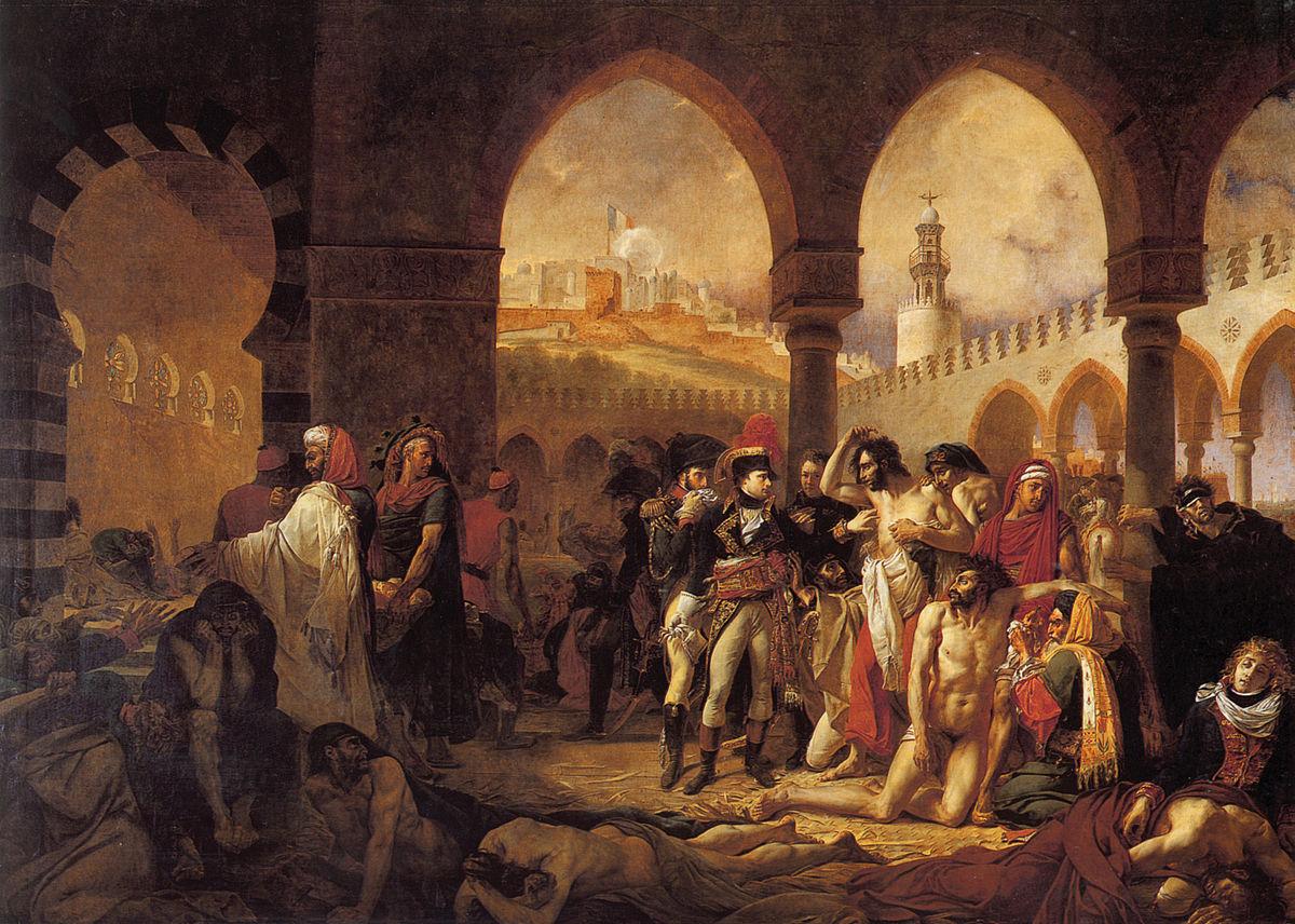 Antoine-Jean Gros, Bonaparte visitant les pestiférés de Jaffa, 1804, Paris, Musée du Louvre.