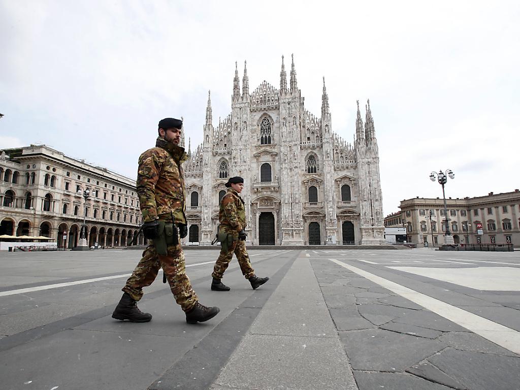 La piazza del Duomo à Milan.