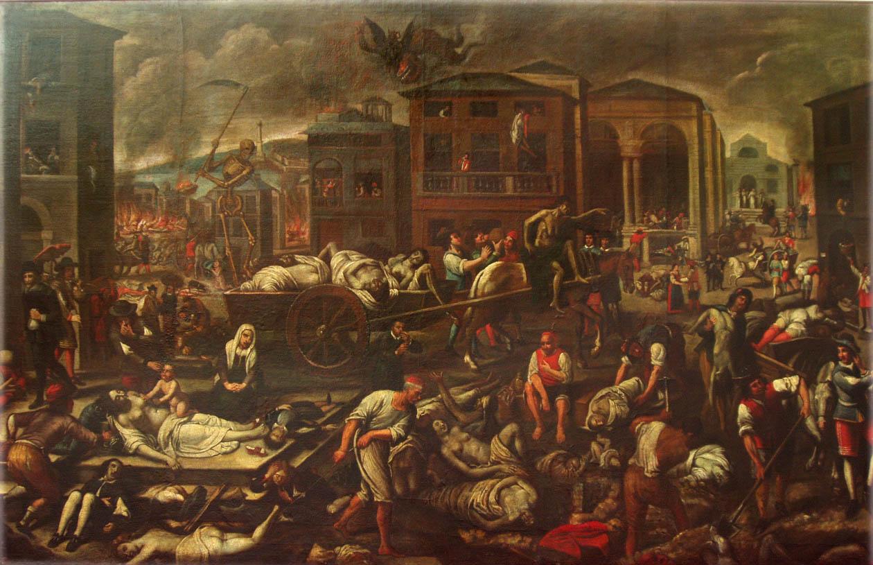 Domenico Fiasella, La peste de 1656 à Gênes, 1658.