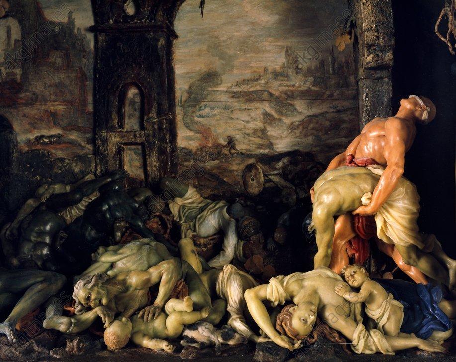 Gaetano Zumbo, La peste, vers 1690, Florence, Musée de la Specola.