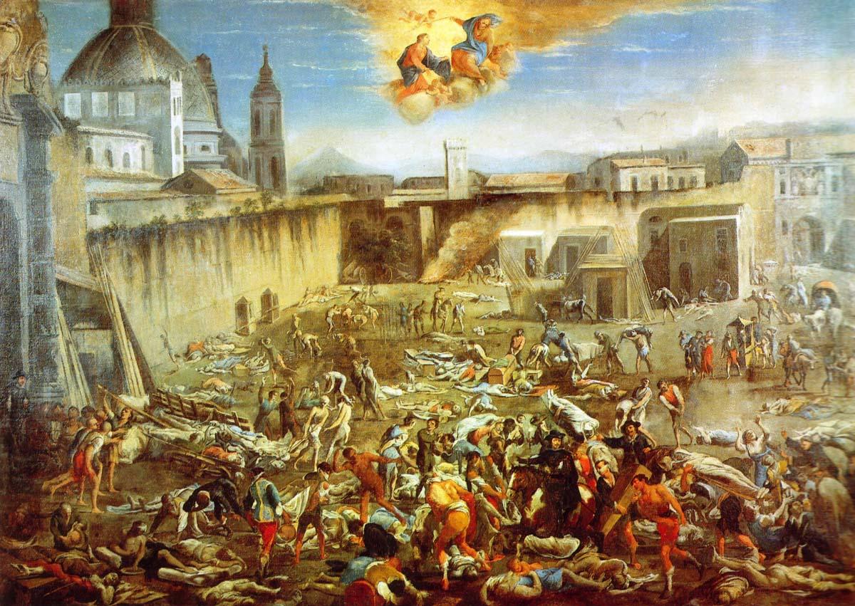 Micco Spadaro, La place du Mercatello à Naples pendant la Peste de 1656, Naples, Museo San Martino.