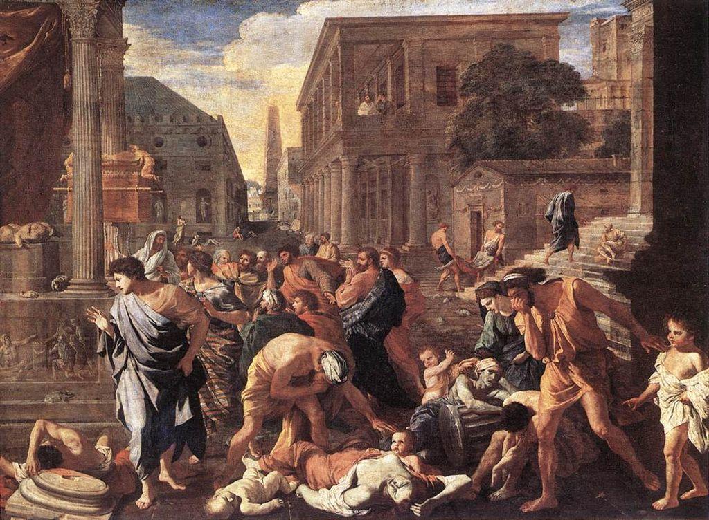 Nicolas Poussin, La Peste d'Asdod, vers 1630, Paris, Musée du Louvre.