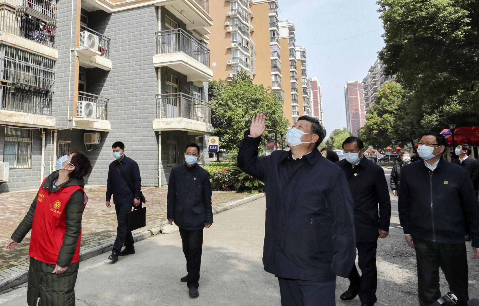 Le président chinois Xi Jinping a visité mi-mars la ville de Wuhan, après l'éclosion du coronavirus.