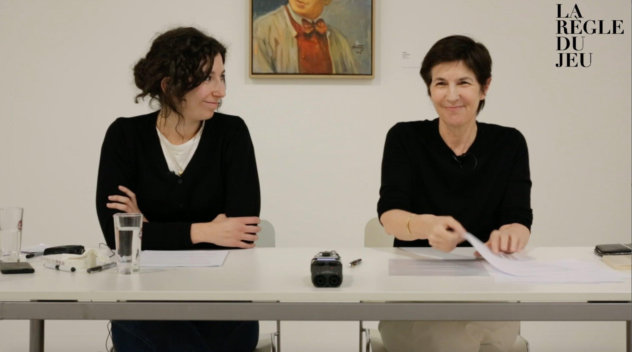 Léonore Chastagner et Christine Angot.