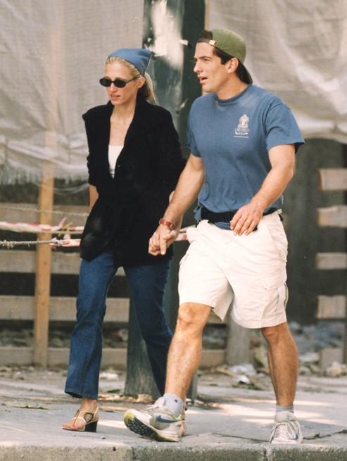 John F. Kennedy Jr. et son épouse Carolyn Bessette.