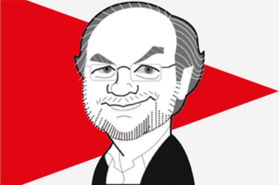 Dessin représentant Laurent Joffrin, le directeur du journal Libération.
