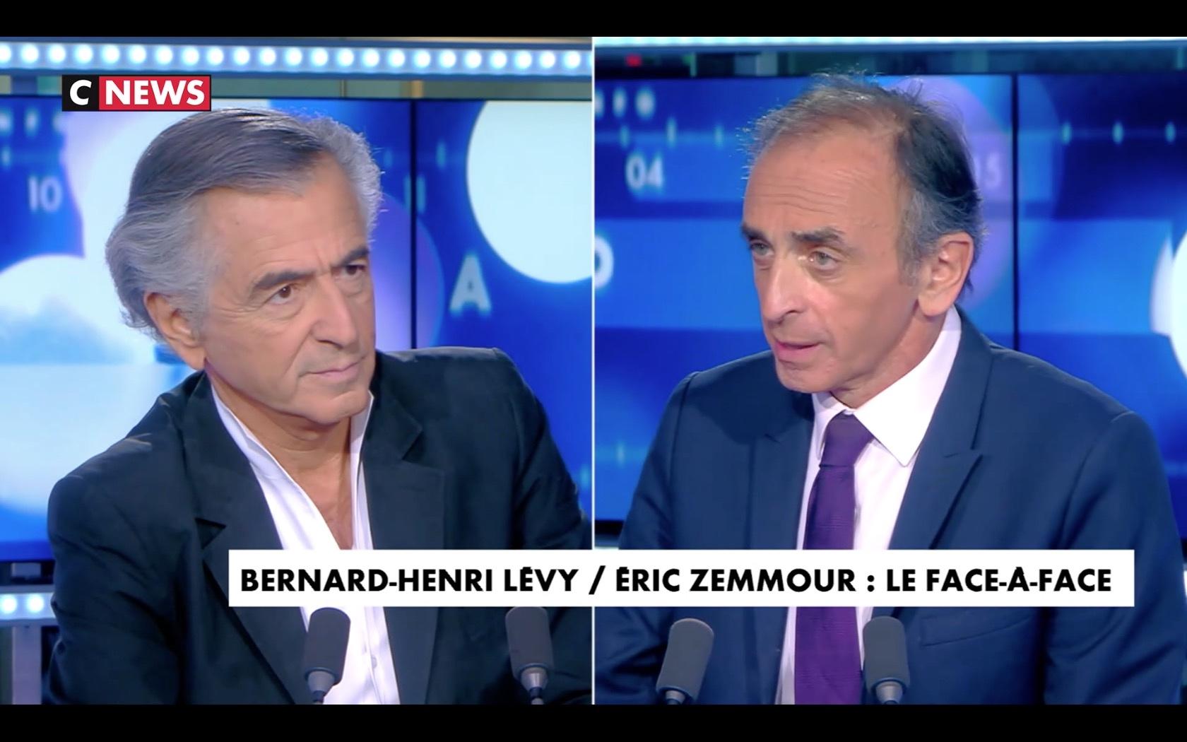 Bernard-Henri Lévy face à Zemmour dans Cnews.