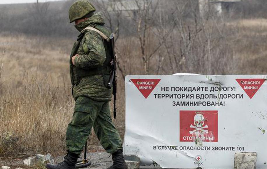 Point de contrôle de l'autoproclamée République populaire du Donetsk à côté de Petrovskoye (région de Donetsk) en novembre dernier.
