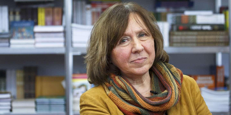 Portrait de l'écrivaine et Prix Nobel de littérature biélorusse Svetlana Alexievitch