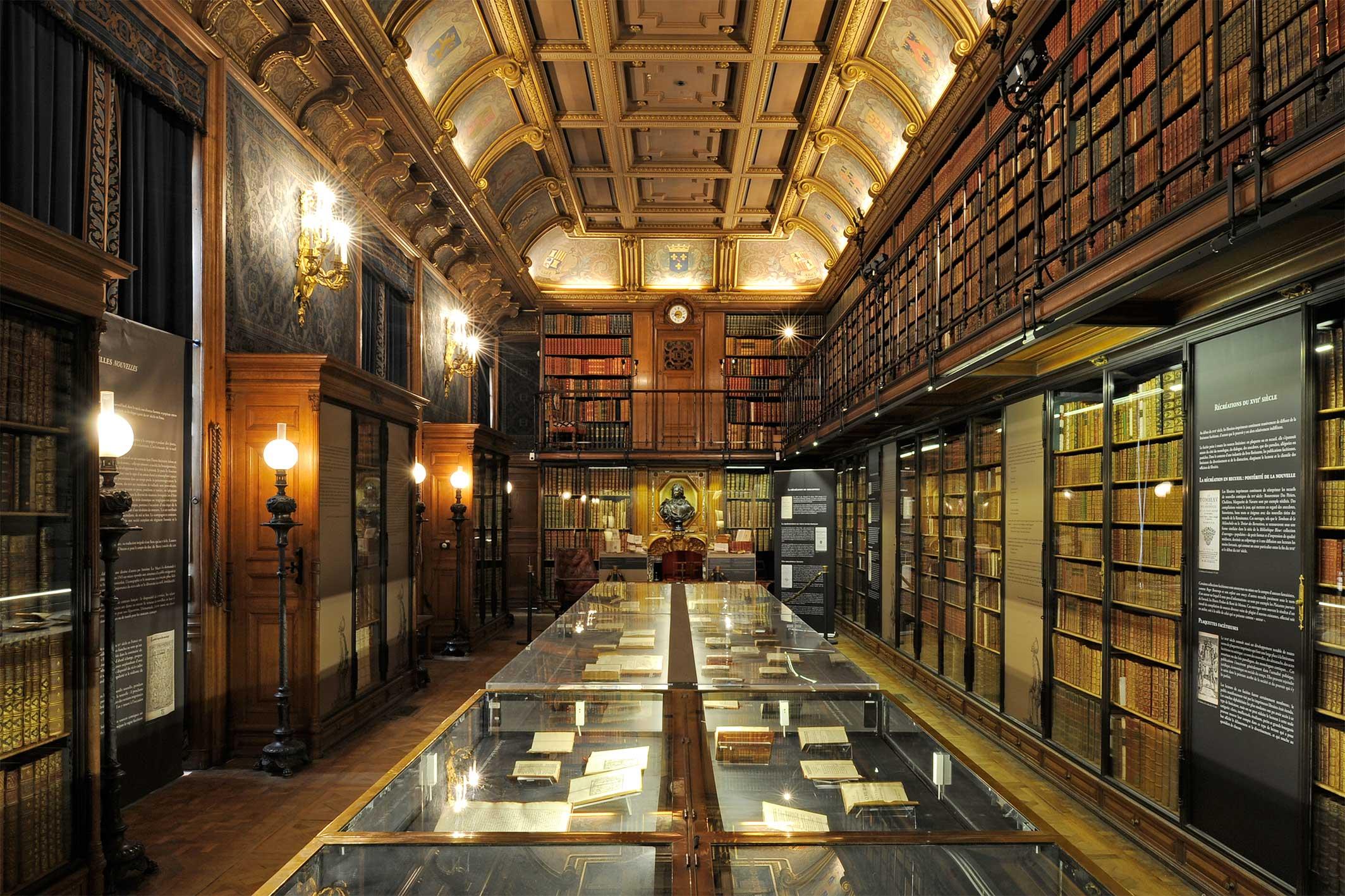 Domaine de Chantilly. Cabinet des Livres du château.