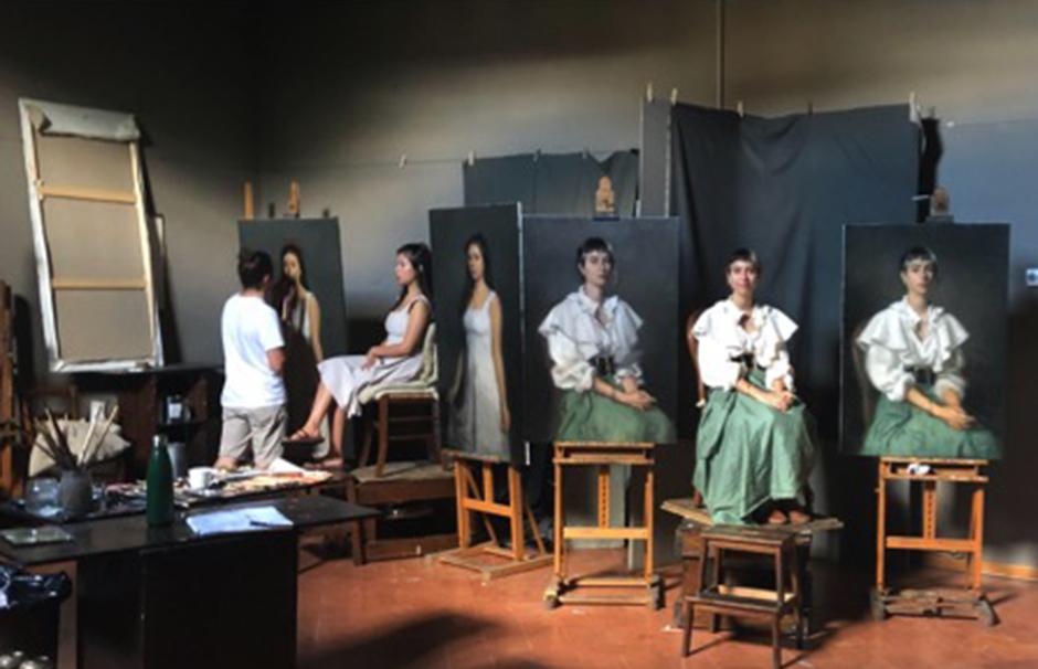 Vue des studios Charles H. Cecil à Florence en juin 2020.