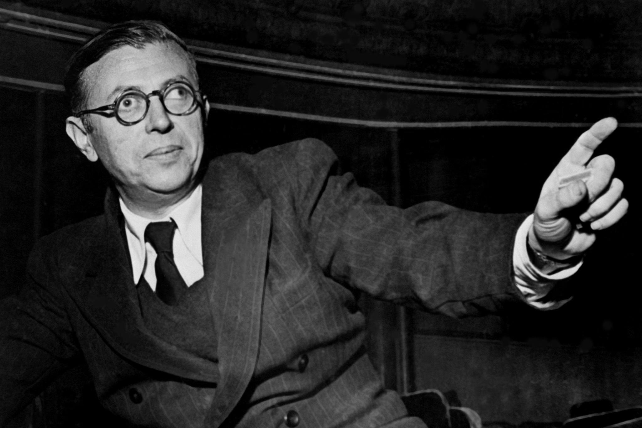 Portrait de Jean-Paul Sartre.
